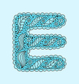 Cute letter E Floral monogram E vector image