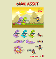 Dinosaur Attack Game Asset vector image