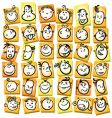 emotions and expression cartoon collection vector image