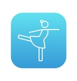 Female figure skater line icon vector image
