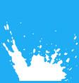 fresh milk splash on blue background vector image