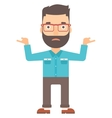 Man standing with open arms vector image