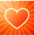 Red heart on shining background vector image