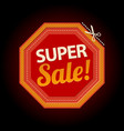 stop symbol super sale sticker vector image