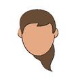 woman head vector image