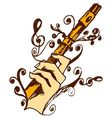 Flute in hand vector image