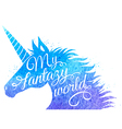 Silhouette of a unicorn vector image