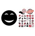 Happy Flat Icon with Bonus vector image