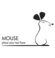 cute mouse icon vector image vector image