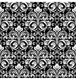 Damask black and white pattern vector image vector image