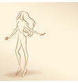Silhouette of woman in pastel tones02 vector image