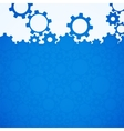 Abstract blue simple gear background vector image