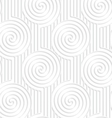 Paper white spirals on continues lines vector image