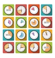 Set clock with the timer vector image vector image