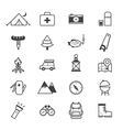 Camping Icons Line vector image