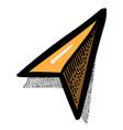 cartoon image of arrow navigator vector image
