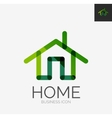 Minimal line design logo home icon vector image