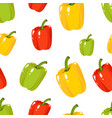 seamless pattern with green red yellow sweet vector image
