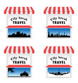 street stall with travel sign vector image