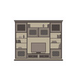 tv unit flat icon isolated front view cabinet vector image