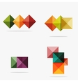 blank abstract squares background vector image vector image