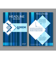 Technology digital brochure template abstract blue vector image