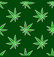seamless pattern with cannabis leaves vector image