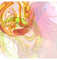 Abstract background with colored spheres vector image