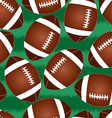 Cute football seamless pattern vector image