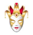 Gold Joker Mask vector image