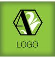A logo monogram 3 vector image vector image