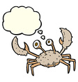 cartoon crab with thought bubble vector image