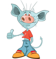 Cute Devil Cartoon Character vector image vector image