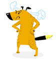 apset standing dog cute dog character vector image