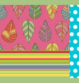 bright seamless seasonal patterns set autumn vector image