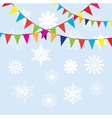 bunting snow vector image