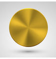 Circle metal icon on gray background Eps10 vector image
