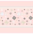 Geometric roses seamless pattern vector image