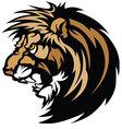 lion head graphic mascot vector image