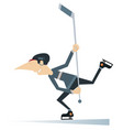 man an ice hockey player isolated vector image