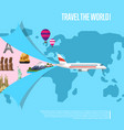 travel the world concept for airline vector image
