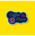 paper sticker on stylish background coffee drink vector image