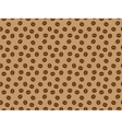 pattern with coffee grains vector image vector image