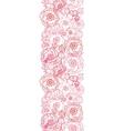 Poppy flowers line art vertical seamless pattern vector image vector image