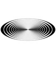 Concentric circle oval resonance waves vector image
