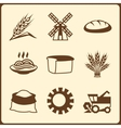 Cereal cultivation and farming icon set vector image vector image