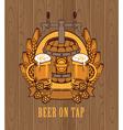 barrel of beer vector image
