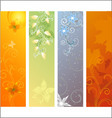 season banners vector image