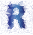 letter R low poly vector image vector image