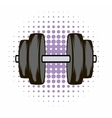 Barbell comics icon vector image